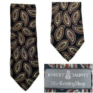 Robert Talbott Mens Silk Tie Paisley Genty Shop